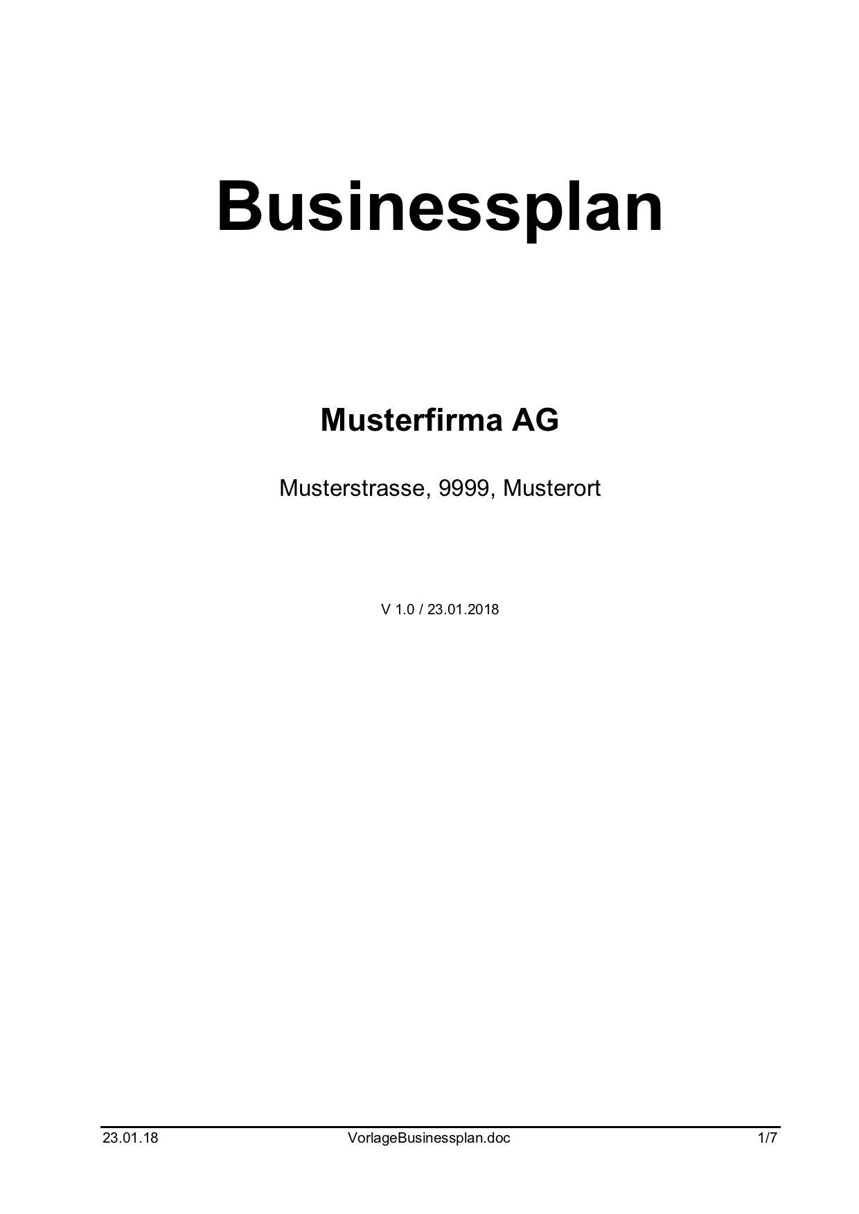 mit dieser kostenlosen businessplan vorlage knnen sie ihre geschftsidee zu papier bringen um die bank - Businessplan Muster Kostenlos
