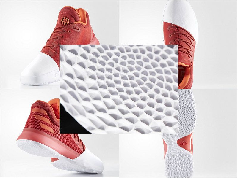 quality design fa06a 2b227 Hot 2017 NBA Playoffs Shoes Cheap BW0547 adidas Harden Vol. 1 Home Farbe  Scarlet Footwear