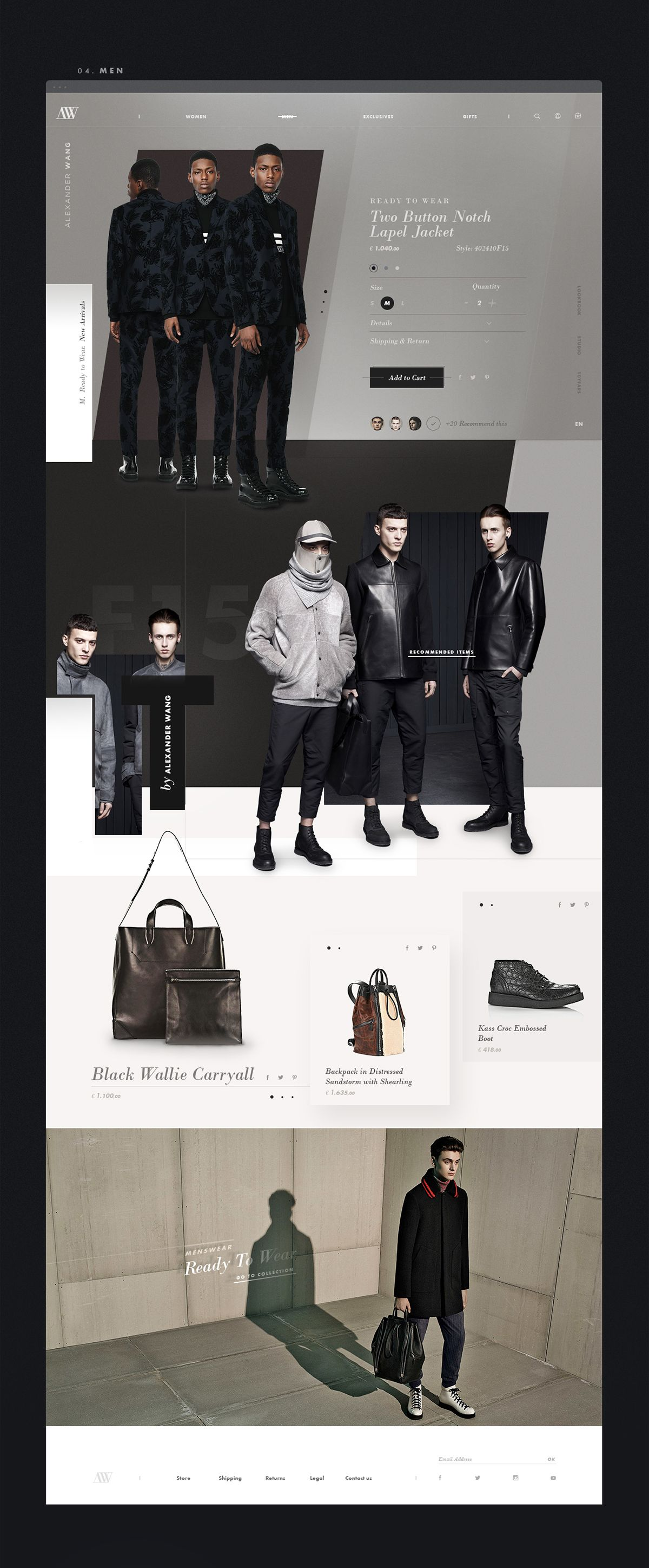 Alexander Wang | Redesign Concept on Web Design Served