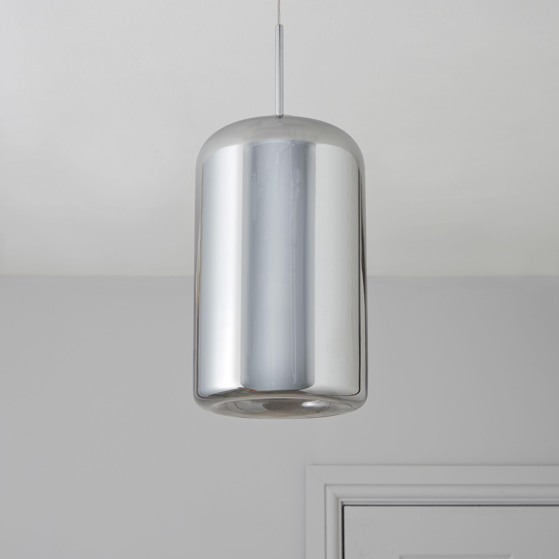 Kynes Smoked Chrome Effect Pendant Ceiling Light
