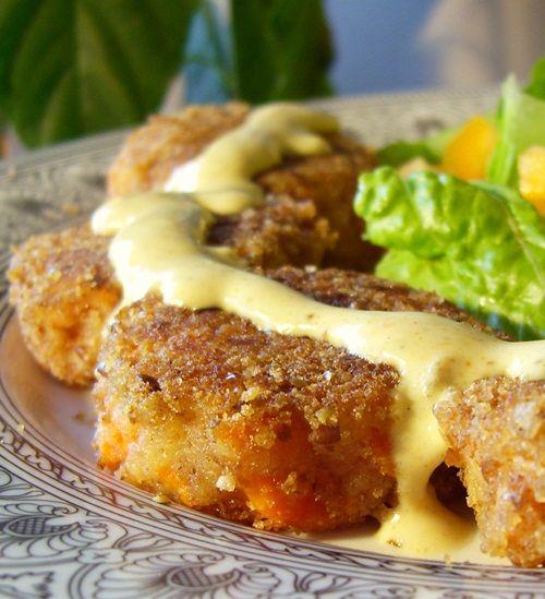 Crispy Curry Potato & Carrot Croquettes via @Alisa Fleming