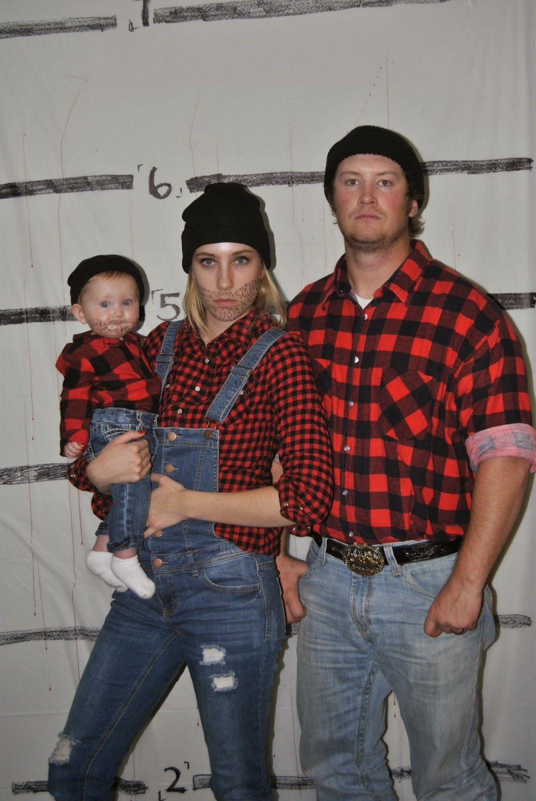 lumberjack family halloween costumes holiday ideas pinterest
