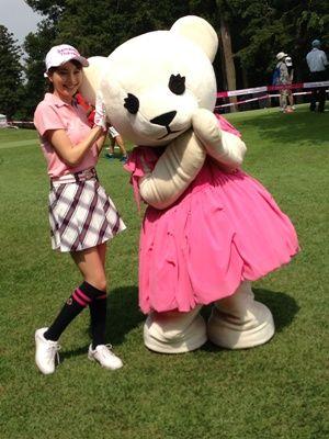 蛯原友里とサマンサベア #anecan #japanesemodel #golf