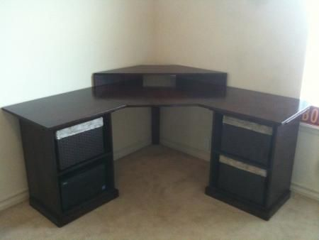 Corner desk do it yourself home projects from ana white corner desk diy projects solutioingenieria Gallery