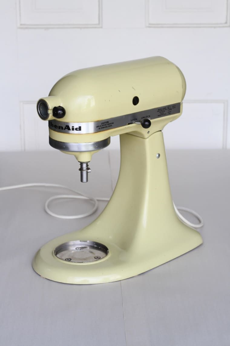 How to paint a kitchenaid mixer a new color kitchen aid