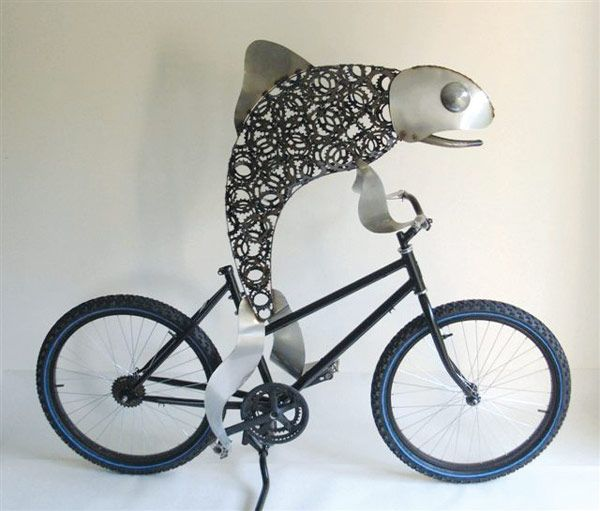 Fish On Bike There Is Such A Thing Bike Art Bicycle Bicycle Art