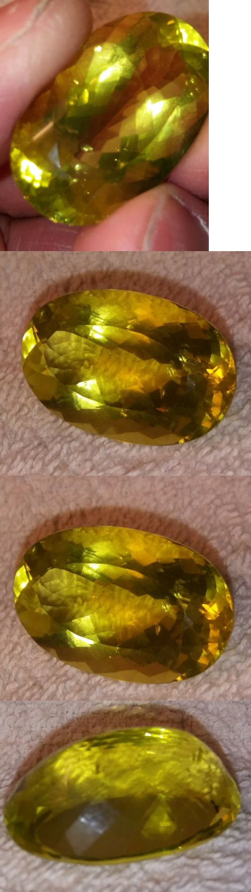 Other Quartz 10252: 44Ct Natural Yellow Lemon Quartz Oval Beautiful Cut Loose Gemstone 28X22 Brazil BUY IT NOW ONLY: $45.0