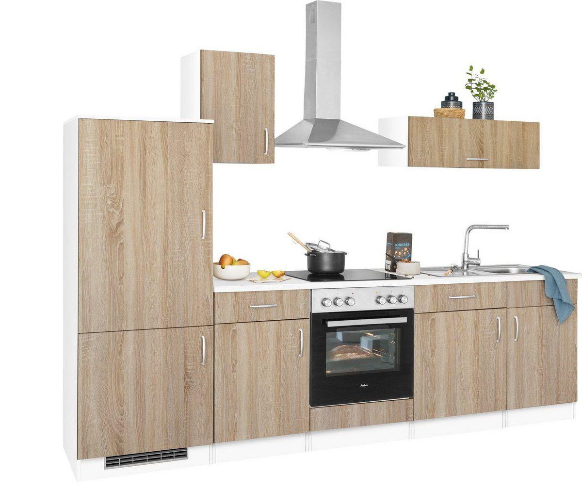 wiho Küchen Küchenzeile »Brilon«, mit E-Geräten, Breite 15 cm