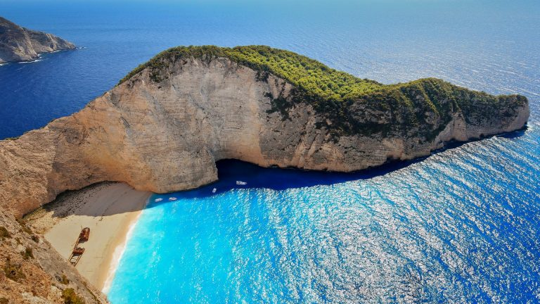 SMUGGLERS COVE GREECE POSTER NAVAGIO SHIPWRECK BEACH WALL ART PRINT A3 A4 SIZE