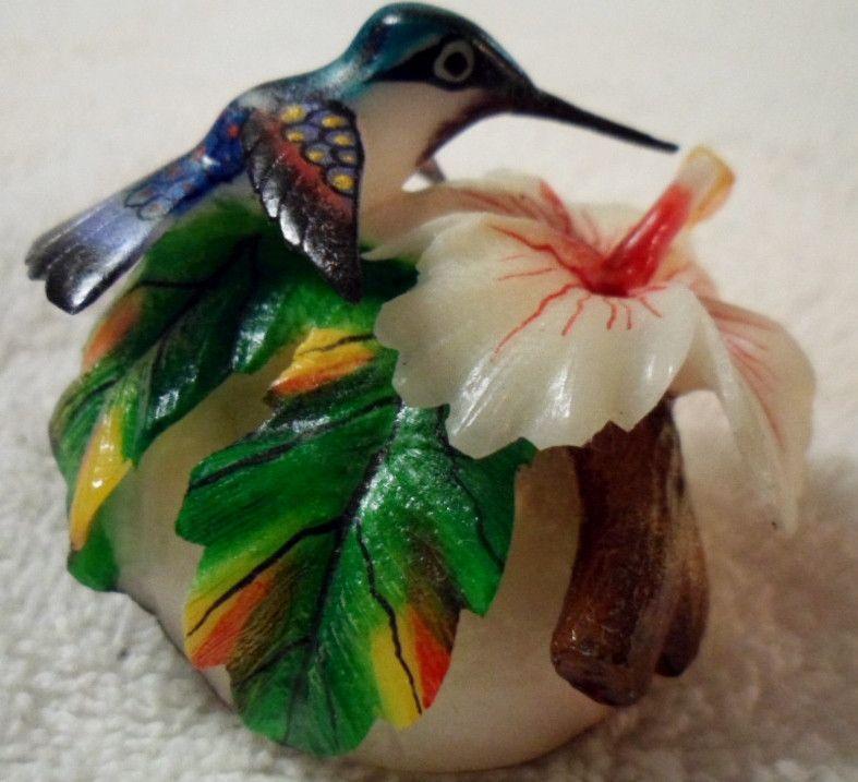 Wounaan Embera Stunning Tagua Hummingbird Carving-Panama 15100933L