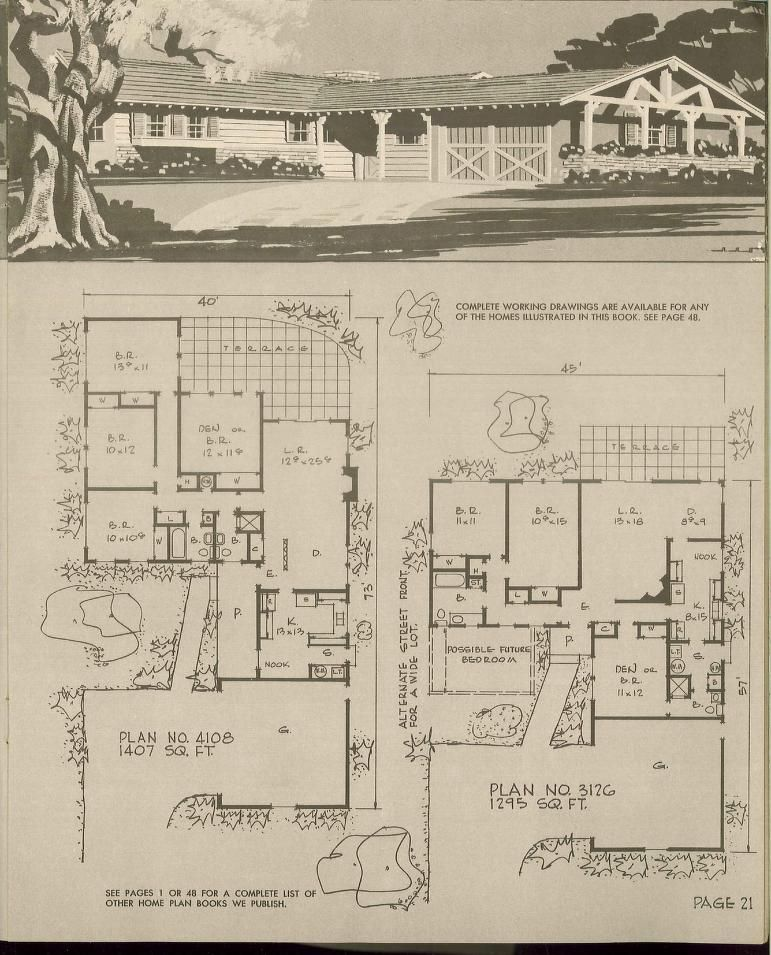 Prize homes hiawatha t estes 1969 vintage house plans for 1960s home floor plans