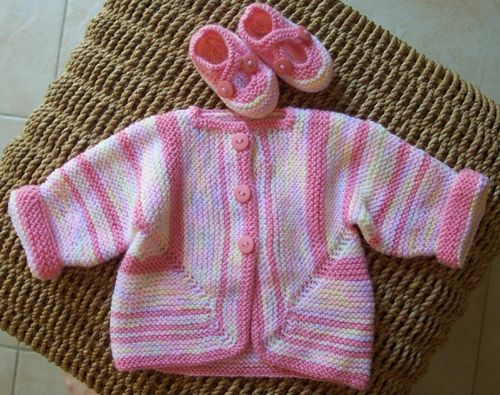 Baby Surprise Jacket & Saartje's booties by miss_molly2007, via Flickr