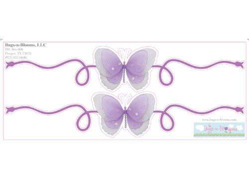 Butterfly Stickers Wall Mural Vinyl Decal Scroll Baby Room Nursery Decorations