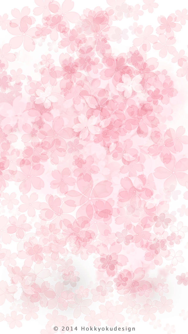 Iphone 6 桜 イラスト デザイン スマホ壁紙 桜 壁紙