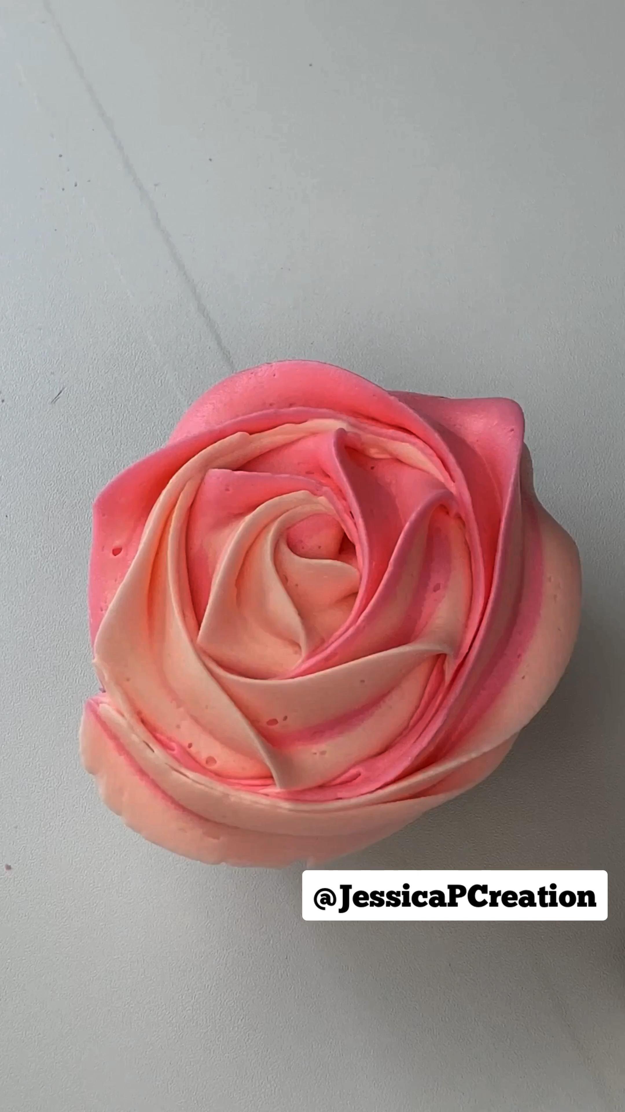 Rose Cupcake Multi Color frosting