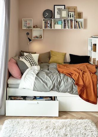 9 Ways To Maximize Space In A Tiny Bedroom Coco S Tea Party Tiny Bedroom Design Tiny Bedroom Remodel Bedroom