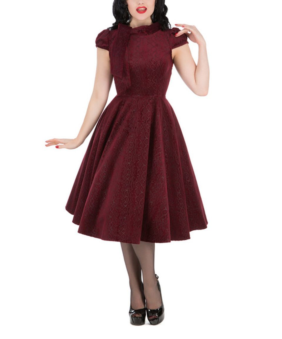 9696689e5c1 Love this HEARTS   ROSES LONDON Burgundy Desirable A-Line Dress - Plus Too  by HEARTS   ROSES LONDON on  zulily!  zulilyfinds