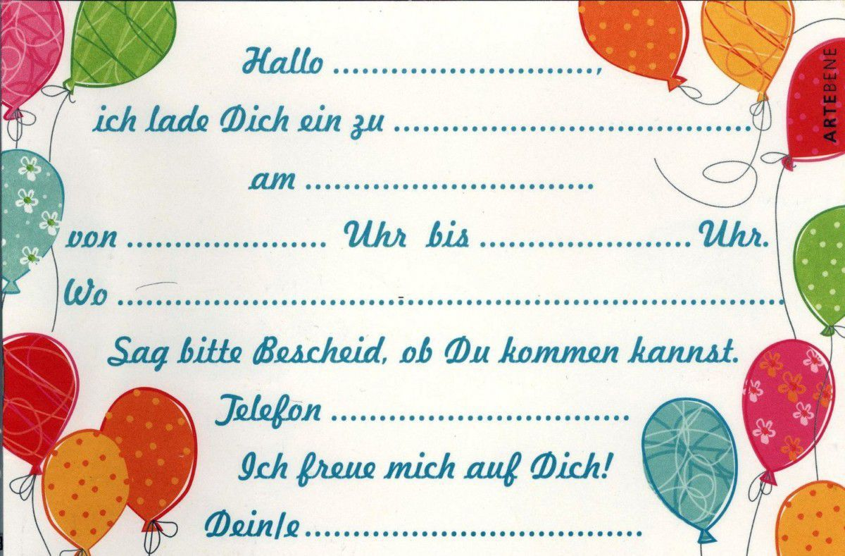Geburtstag Einladungskarte Einladungskarten Geburtstag Kostenlos