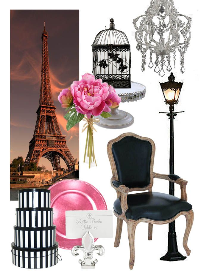 decor for a paris themed party paris pinterest party noel mariage paris et deco anniversaire. Black Bedroom Furniture Sets. Home Design Ideas
