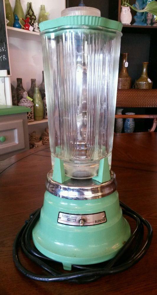 Vintage Blender Kitchen Clics Waring 2 Sd Turquoise Jade