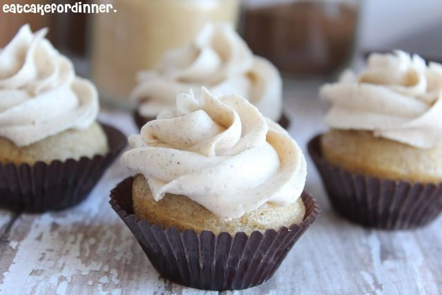 Eat Cake For Dinner: Vanilla Chai Cupcakes with Chai Spiced Buttercream - hello fall!