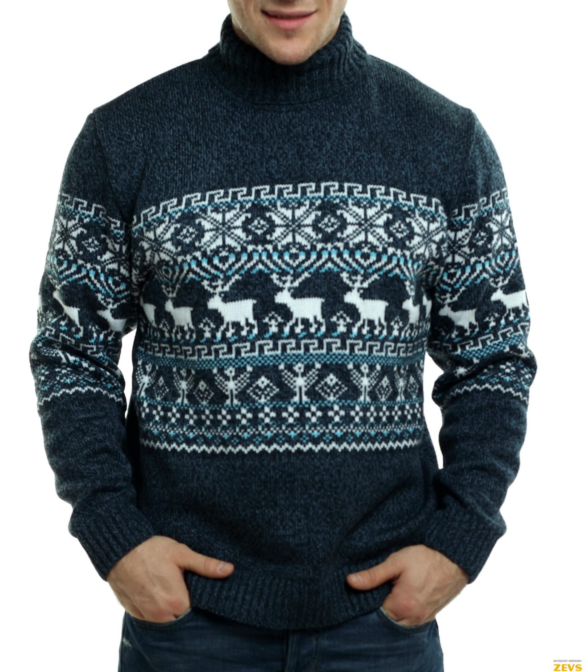 свитера с оленями схемы вязания