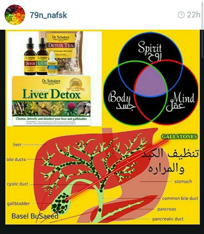 الكبد مصنع الجسم كله والغذاء وتفكيك الدواء والسموم لوحدات أقل سميه بقدر ماتجهزت له كل من يتناول طعام مصنع او ادويه او حتى بن Liver Detox Bile Duct Body Detox