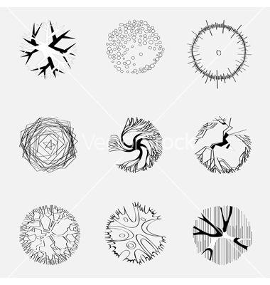 landscape design trees vector 761349