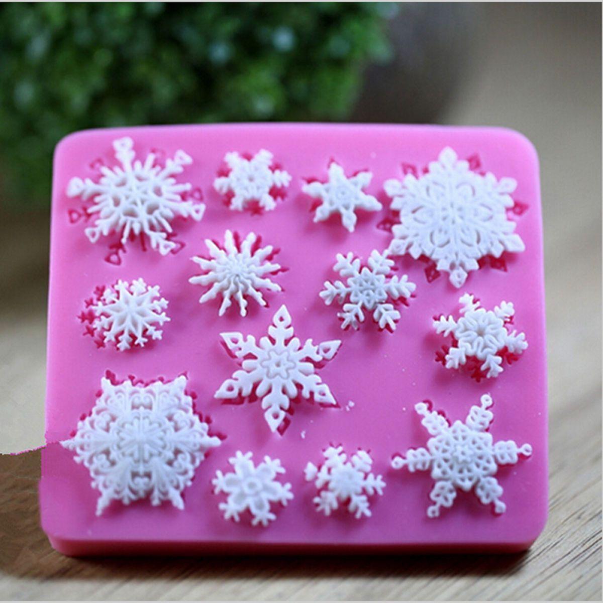Snowflake Silicone Fondant Cake Mold Soap Chocolate Candy