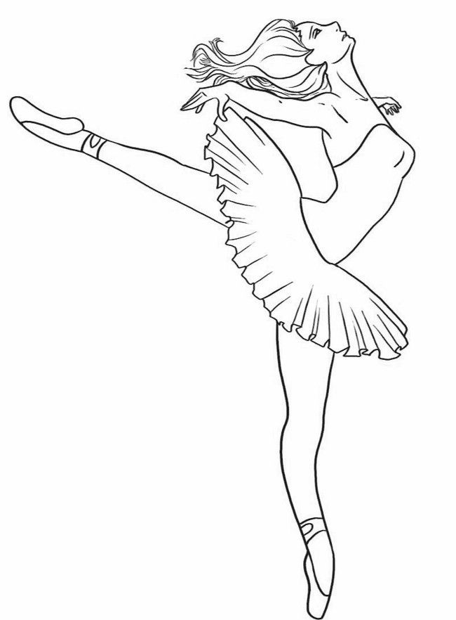 dancing girls coloring pages - photo#24