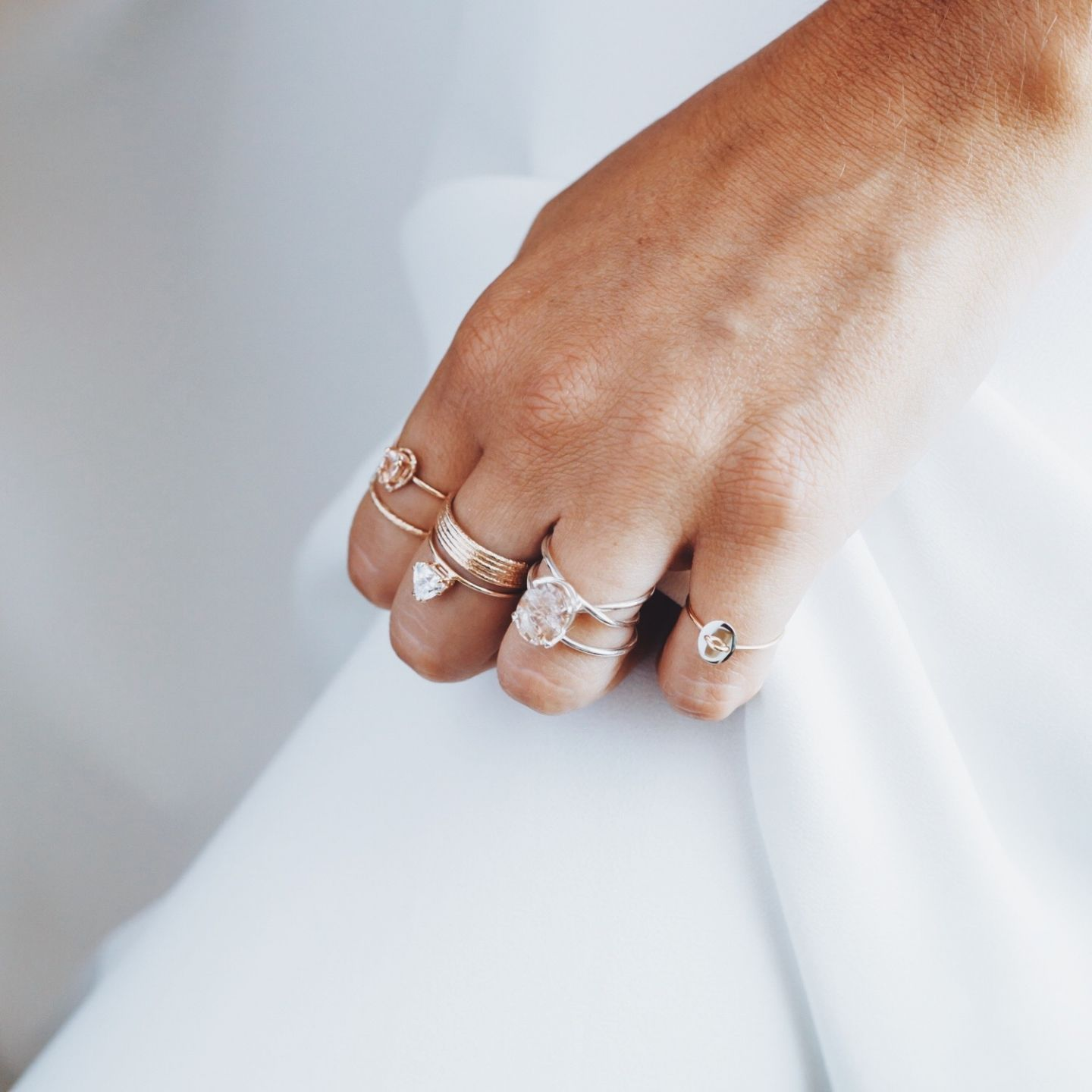 86bca78c040d Natalie Marie Jewellery. Ring Stacks. Layered Rings. Fine Jewellery ...