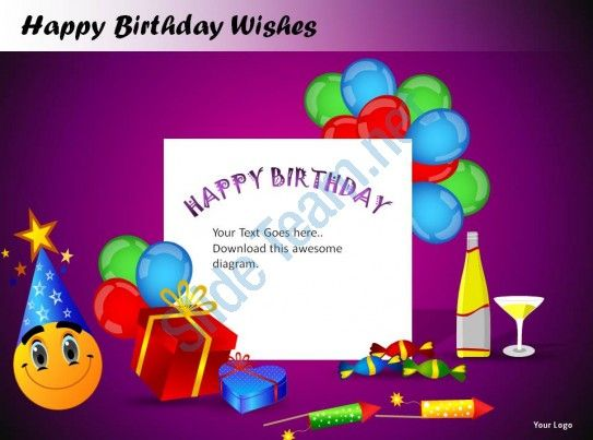 happy birthday wishes powerpoint presentation slides Slide14 - birthday wishes templates word