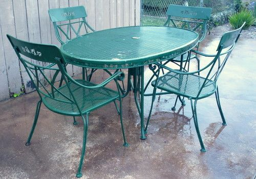 Oval Table W 4 Chairs 1950 S Maker Offered On Ebay For 204 99