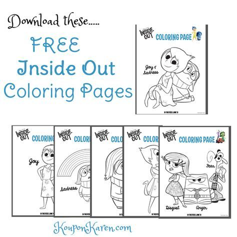 FREE Inside Out Coloring Sheets