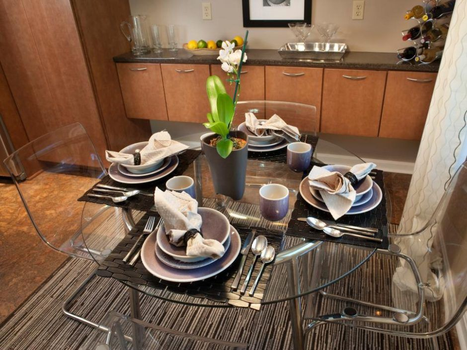 Design Ideas Round Glass Top Dining Table And Acrylic Chairs Glass Top Dining Table Round Glass Top Dining Table Glass Round Dining Table Round Glass Table