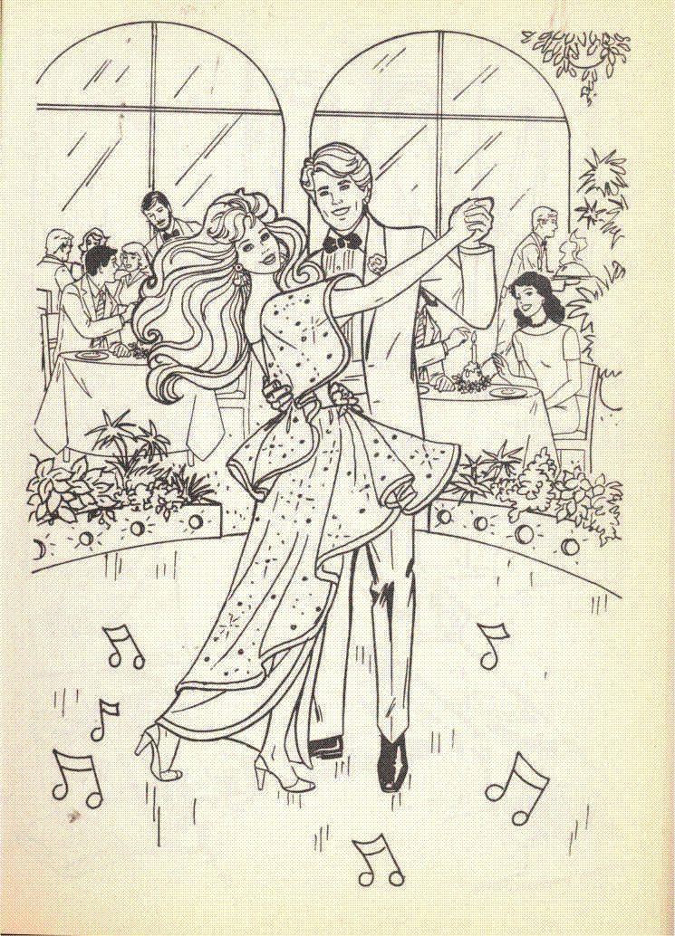 Vintage 1992 Barbie Big Color Activity Book By Golden 4