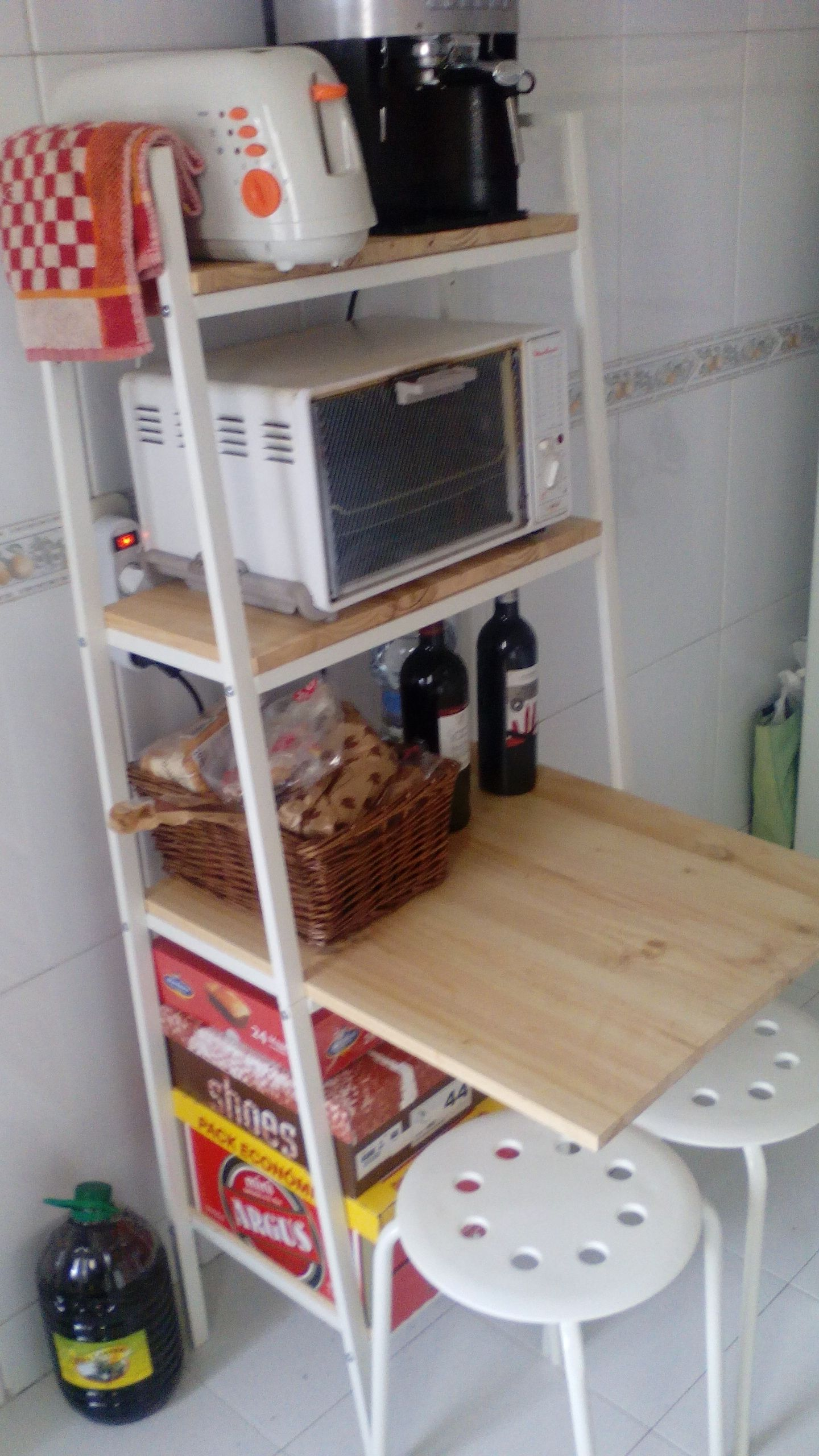 Ikea Hacks Küche Lerberg As Kitchen Storage And Mini Breakfast Bar Ikea