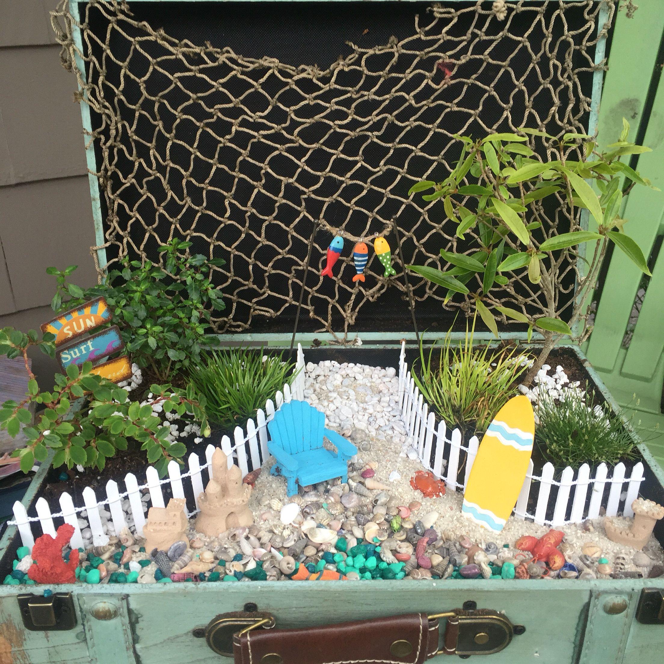 Suitcase Beach Fairy Garden | Miniature/Fairy Garden Designs ...