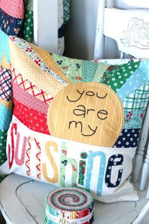 You Are My Sunshine Pillow pattern by Ameroonie Designs featuring Sugarhouse Park fabric collection…