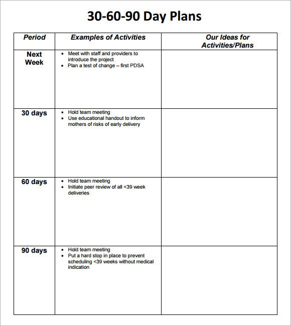 30 60 90 Day Plan Template 8 Free Download Documents In Pdf Qmq9uheq