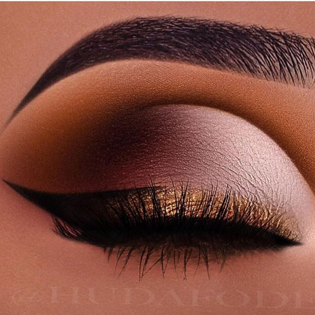 Stunning warm palette eye makeup