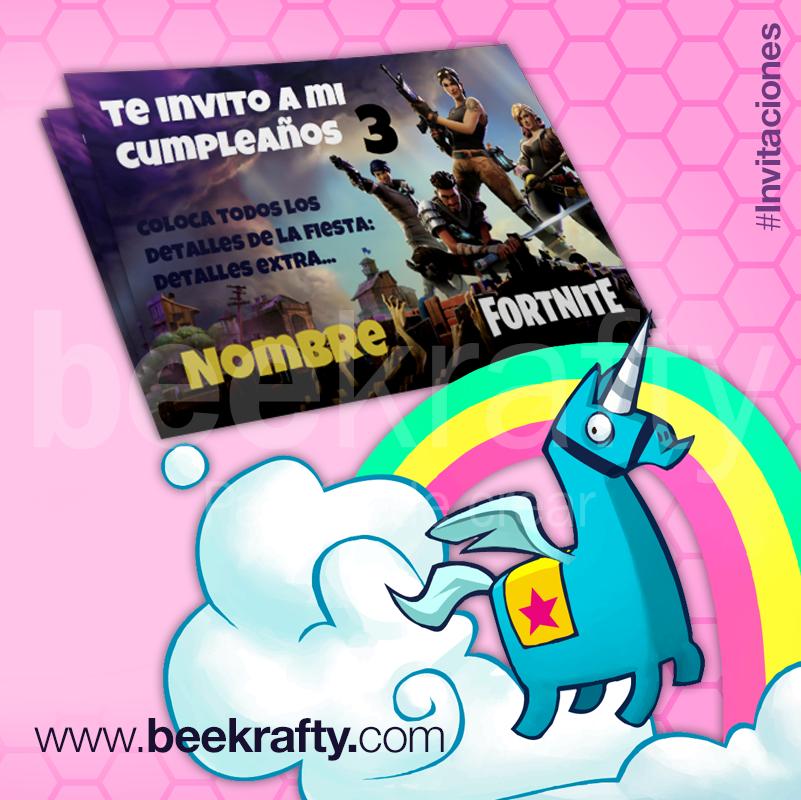 Invitaciones De Fortnite Que Podrás Personalizar Con La