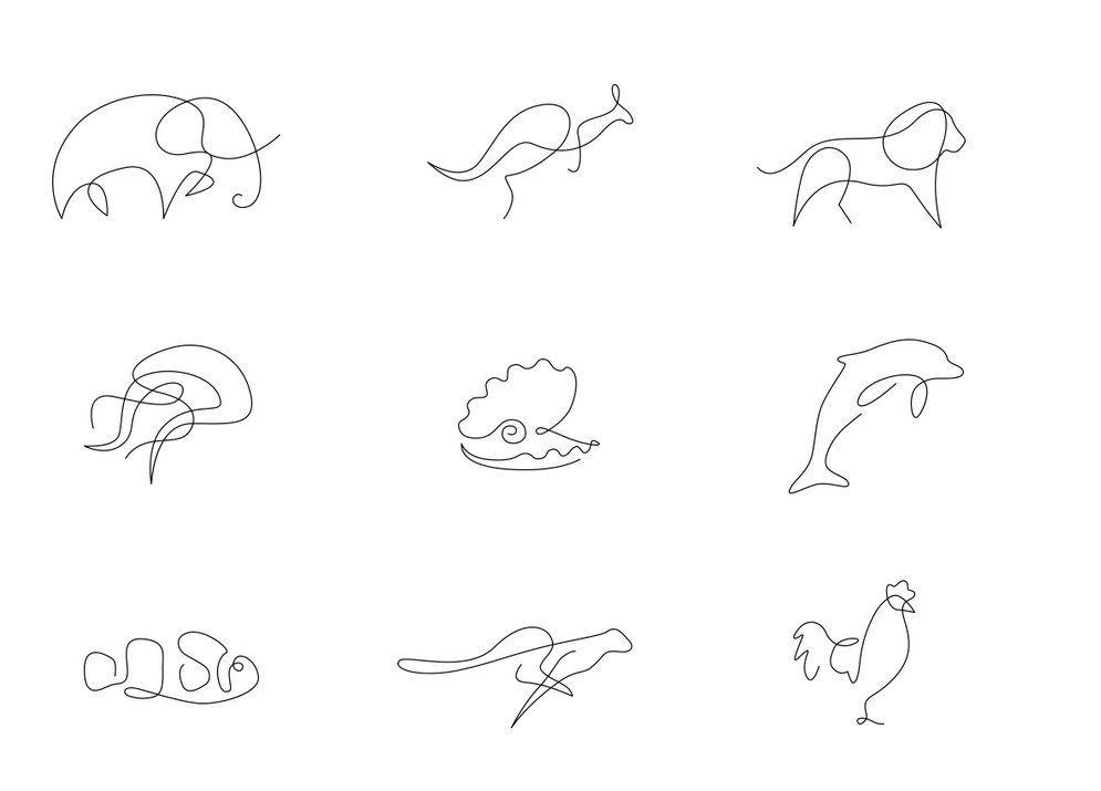 Dibujos Con Una Sola Linea Buscar Con Google Dibujos Iconos