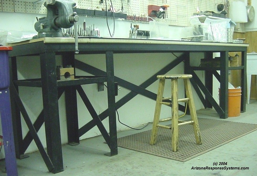 Arizona response systems building a heavy duty workbench for Plan fabrication table