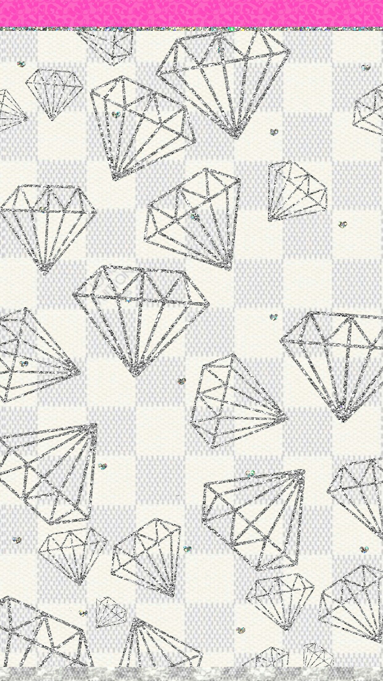 Girly Diamonds Wallpaper