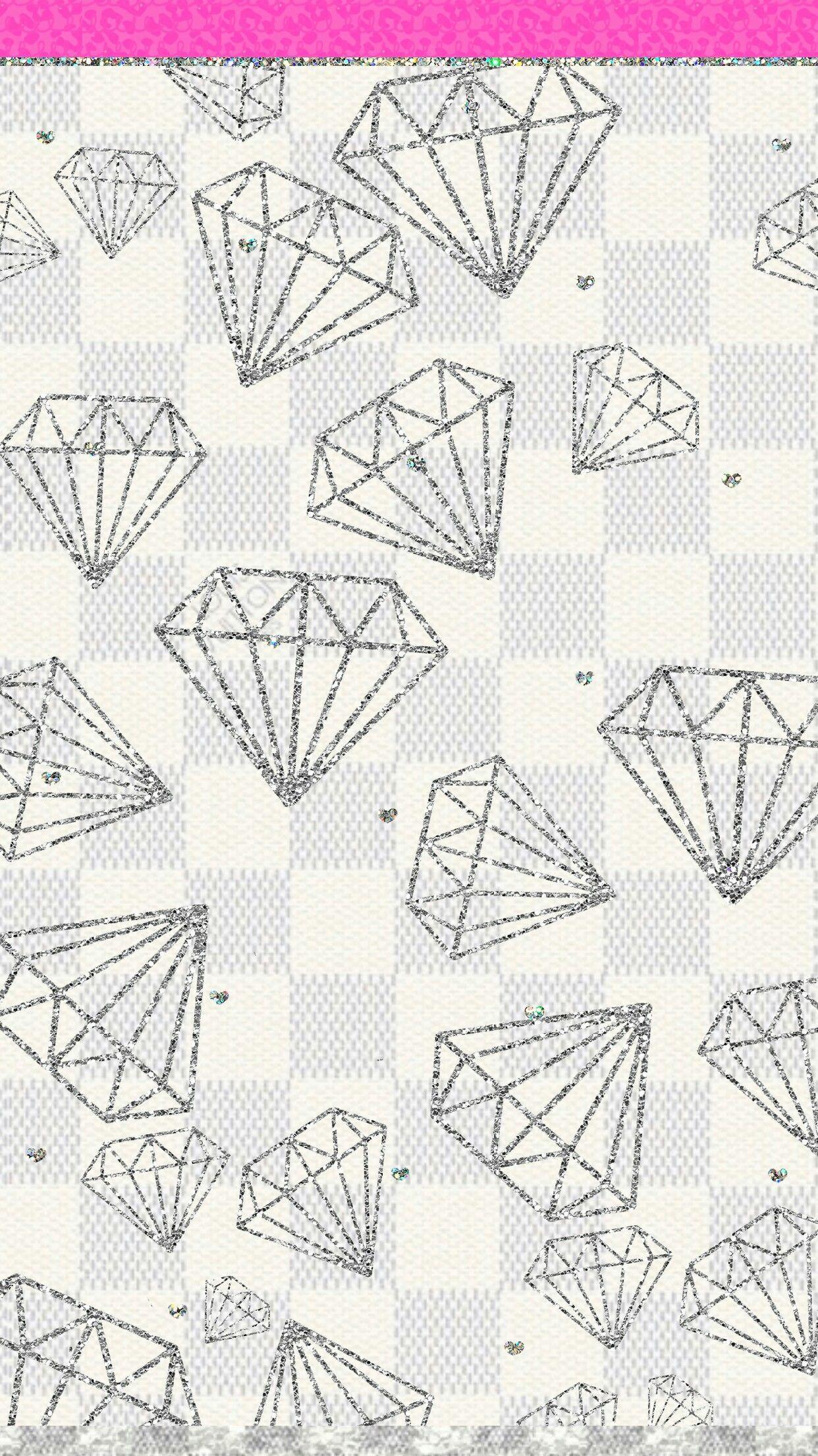 Girly Diamonds Wallpaper