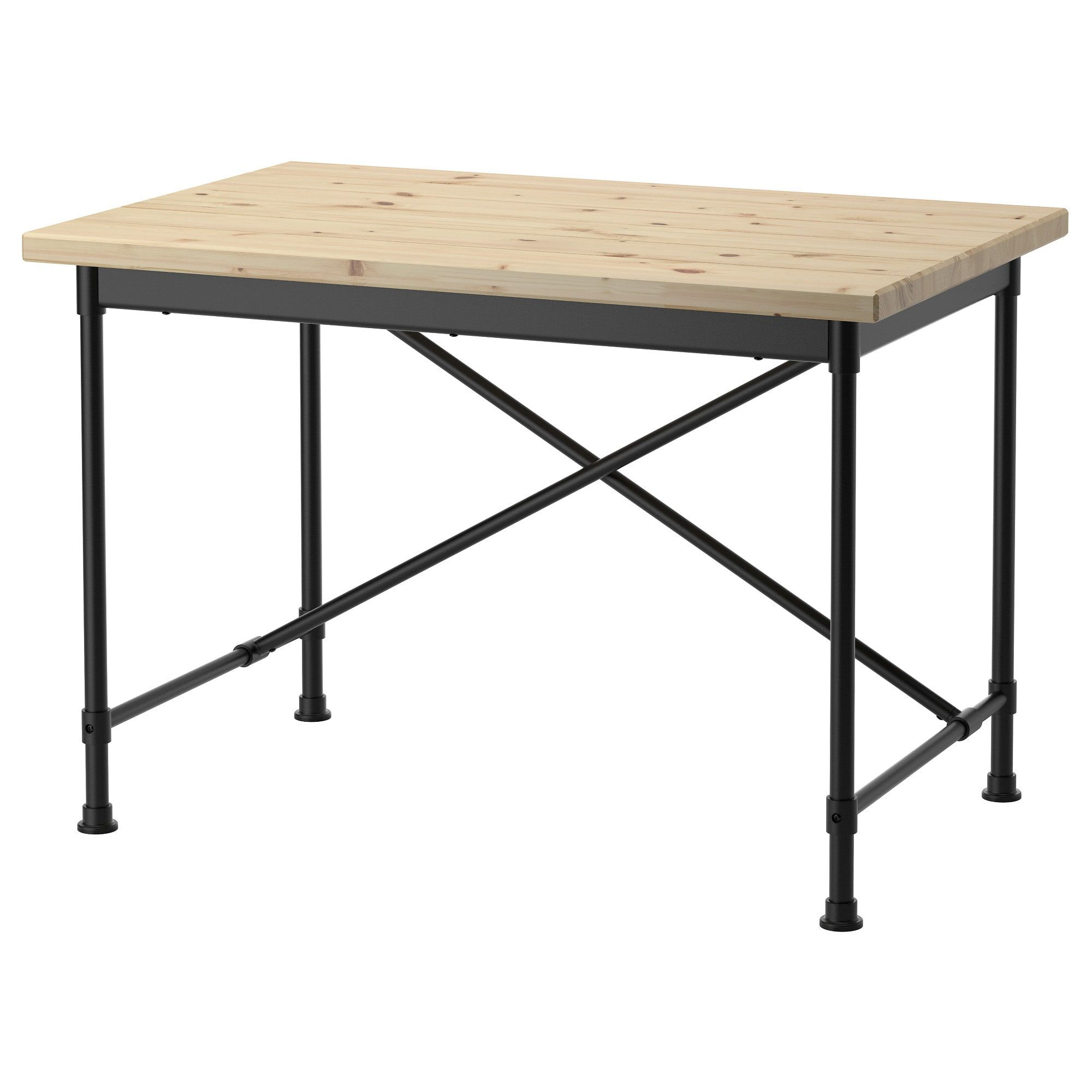 Ikea Table Ikea Kullaberg Pine Black Desk In 2019 Big Girl Office Ikea