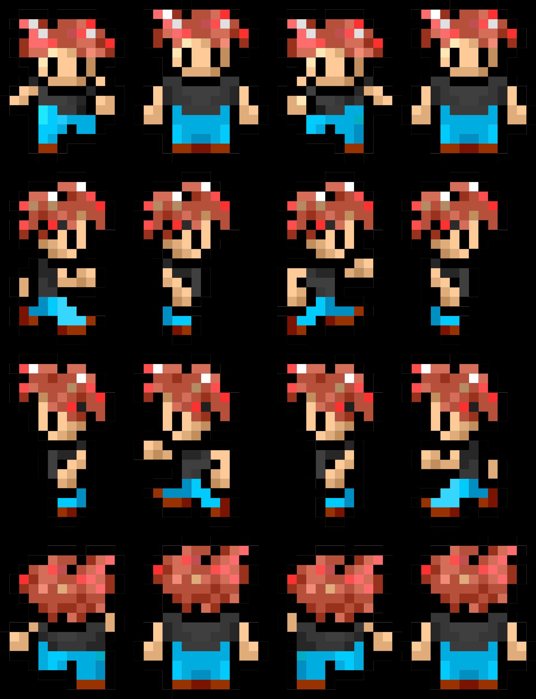 image result for 8 bit sprite sheet pixel game inspo