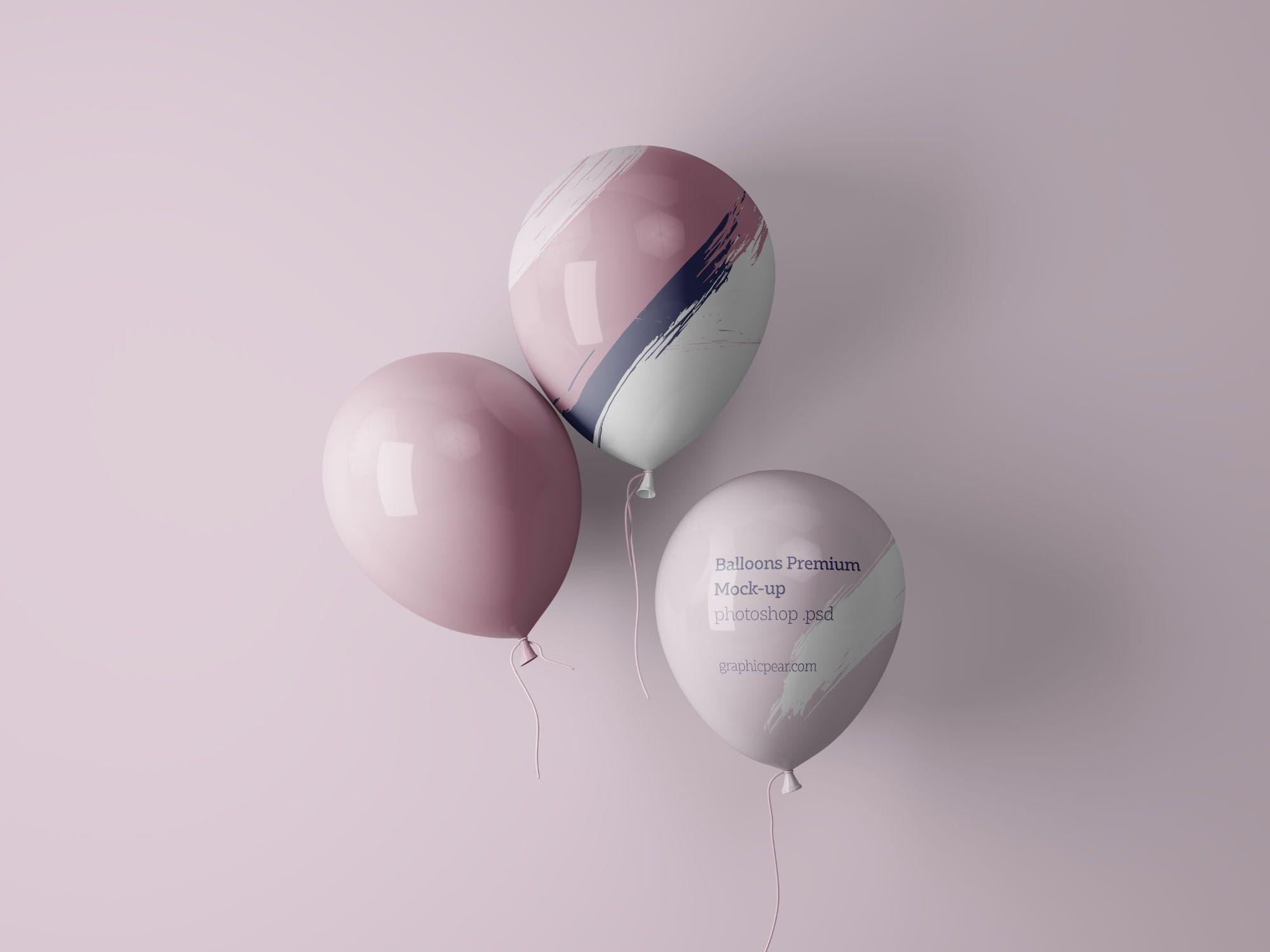 Balloons Mockup Psd Mockup Mockup Free Psd Mockup Psd