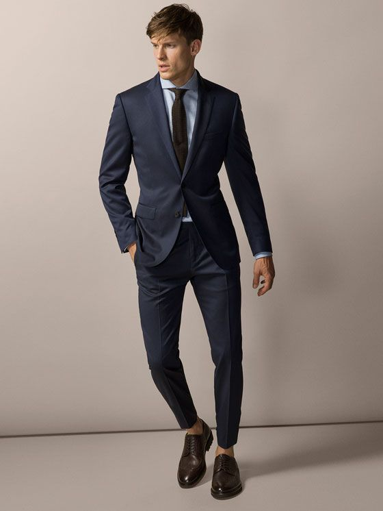 Massimo Dutti. COSTUME LAINE STRUCTURE   Mode homme en 2019   Mode fe42b4185dc